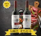 クリスマスギフトワインSyrah, Cabernet Sauvignon木箱付き/送料無料!